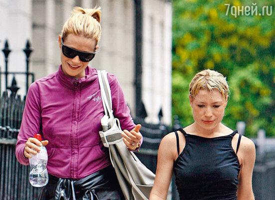С Трэйси Андерсон — персональным тренером, работающим также с лучшей подругой Гвинет — Мадонной