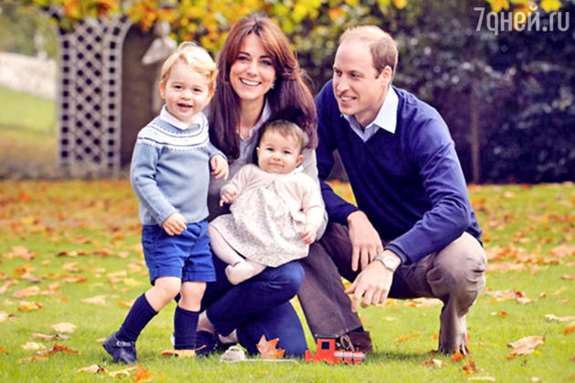 Принц Джордж, Кейт Миддлтон, принц Уильям и принцесса Шарлотта