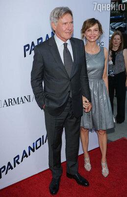 С третьей женой Калистой Флокхарт напремьере фильма «Паранойя». Лос-Анджелес, август 2013 год