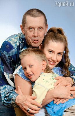 С Ириной Линдт и сыном Иваном