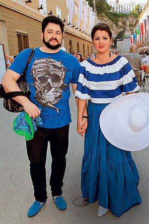 Анна Нетребко с Юсифом вЗальцбурге. 2016 г.