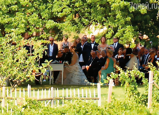 Свадьба Эроса Рамазотти с Марикой Пеллегринелли, 2014 г.