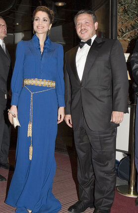 Король Иордании Абдалла II и Рания Файсал аль-Ясин. 2011 год