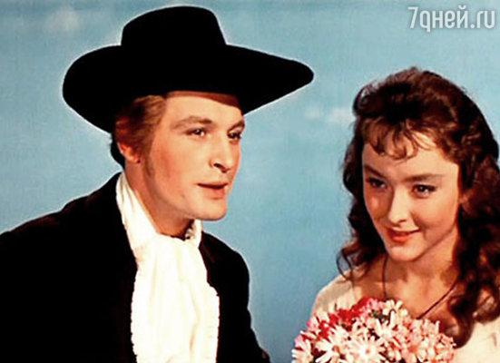 С Анастасией Вертинской в фильме «Алые паруса», 1961 год