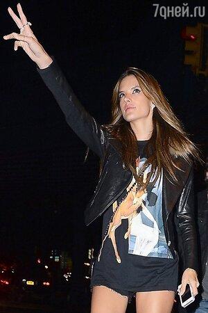Алессандра Амбросио в свитшоте Givenchy Bambi