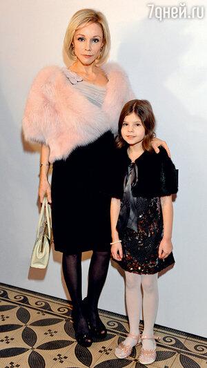 Марина Зудина с дочерью Машей. 2014 г.
