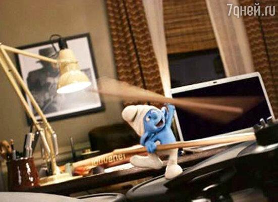 Кадр мультфильма «Смурфики 3D»
