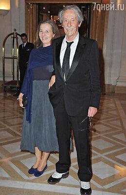 Жан Рошфор с женой