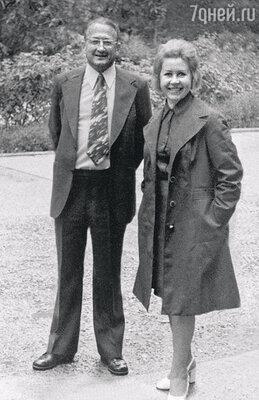 С мужем Михаилом Перельманом