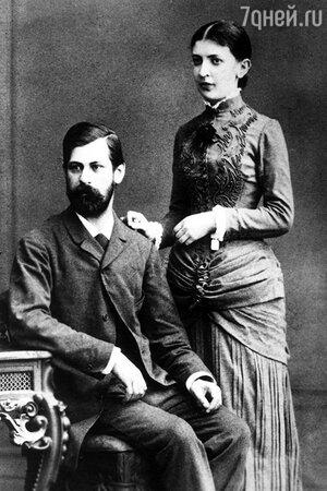 Зигмунд Фрейд с женой
