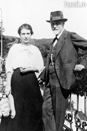 Зигмунд Фрейд с дочерью