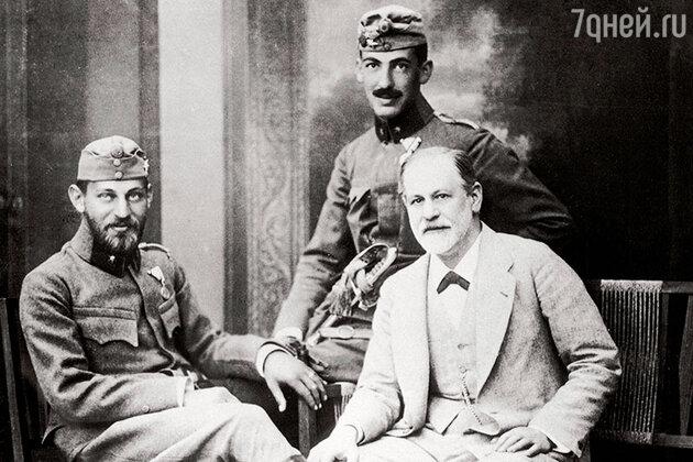 Зигмунд Фрейд с сыновьями