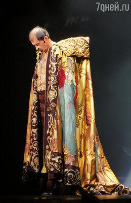 Илья во время премьеры мюзикла «Пророк»