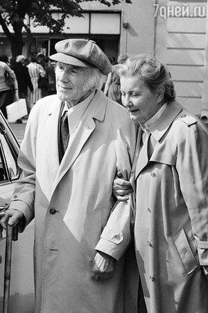 Игорь Ильинский с женой Татьяной Еремеевой. 1986 год