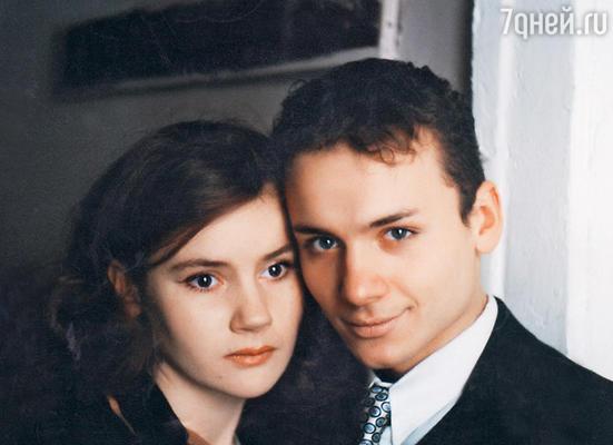 С бывшей женой Ольгой Беловой. 1998 г.