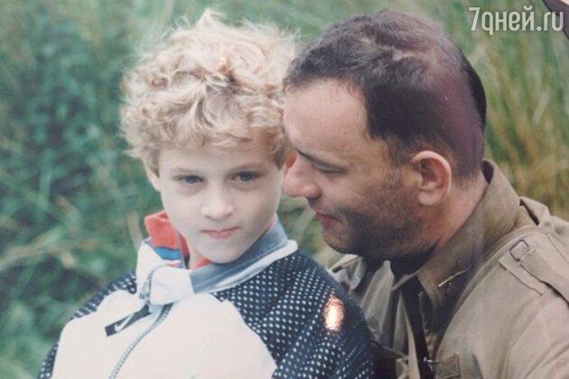Том Хэнкс с сыном Честером