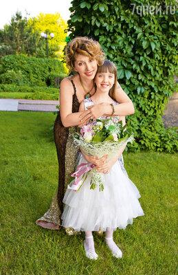 Елена с дочерью Соней