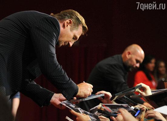 До начала показа  Лиан и режиссер фильма Оливье Мегатон прошлись по красной дорожке кинотеатра, раздали автографы своим поклонникам и, выйдя на сцену, рассказали о том, как снимался фильм и что ждет зрителей