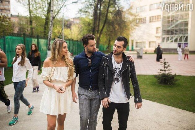 Ираклий Пирцхалава, Виталий Гогунский и Наталья Рудова на съемках клипа «Я – это ты»