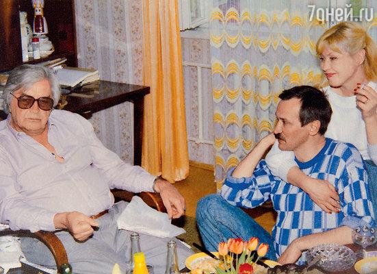 Юрий Любимов в гостях у Леонида Филатова и Нины Шацкой. 1988 г.