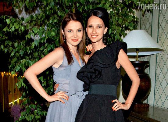 Екатерина Вуличенко и ее подруга Анастасия Цветаева
