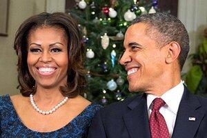 Барак Обама с женой поздравил американцев с Рождеством