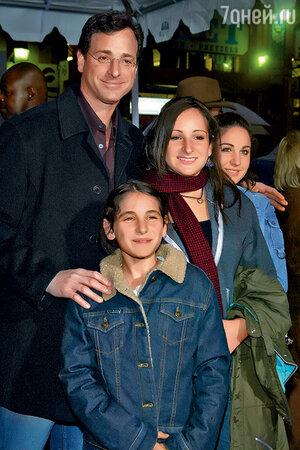 Боб Сагет с семьей