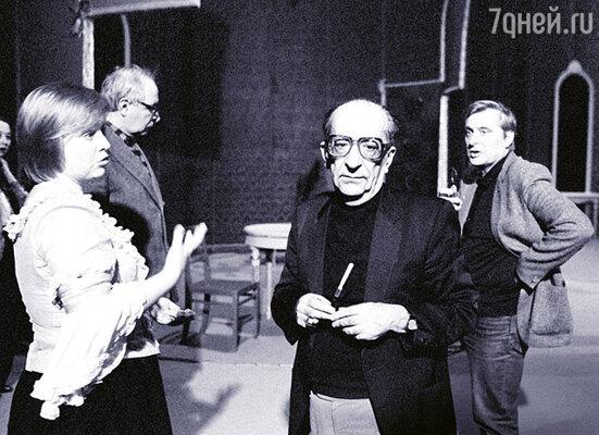 На последней репетиции с Мастером, главным режиссером БДТ Г. А. Товстоноговым незадолго до его смерти. Май 1989 г.