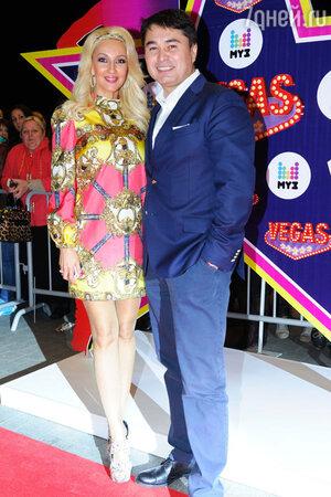 Лера Кудрявцева и Арман Давлетьяров на празднования 17-летия канала «МУЗ-ТВ»