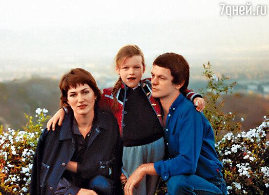 Галина Логинова с мужем Боги и дочкой Миллой в США. 1981 г. Фото из семейного альбома Галины Логиновой