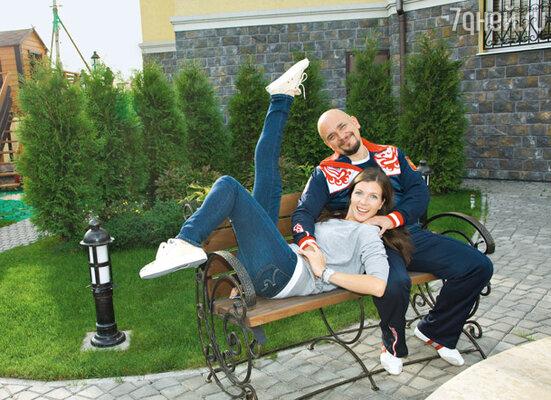 Сергей Трофимов с женой Настей