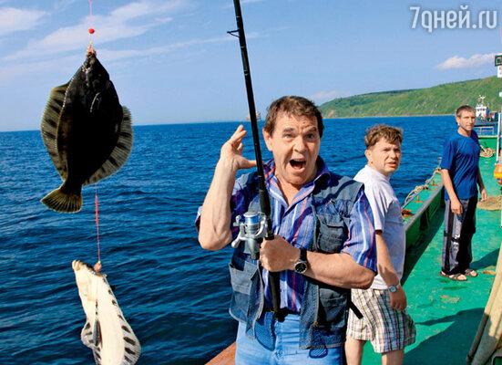 Алексей Булдаков на рыбалке в Охотском море