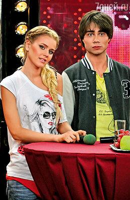 Екатерина Кузнецова и Александр  Рыбак в телешоу «Зірка+Зірка 2»