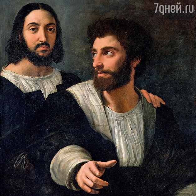 Автопортрет Рафаэля с другом, Лувр, Париж