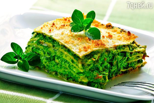 Вегетарианская лазанья со шпинатом