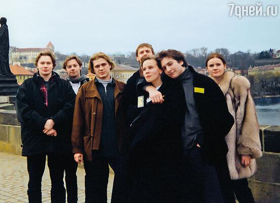 С однокурсниками из «Щуки» на гастролях в Праге