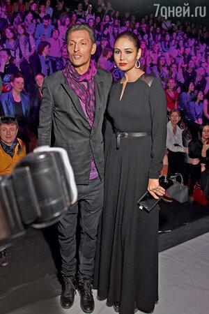 Ляйсан Утяшева с Павлом Волей на модном показе. 2013 г.