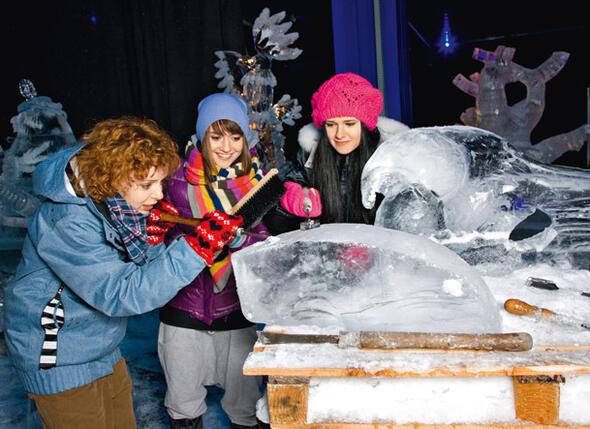 Девчонки попробовали создать собственный ледяной шедевр