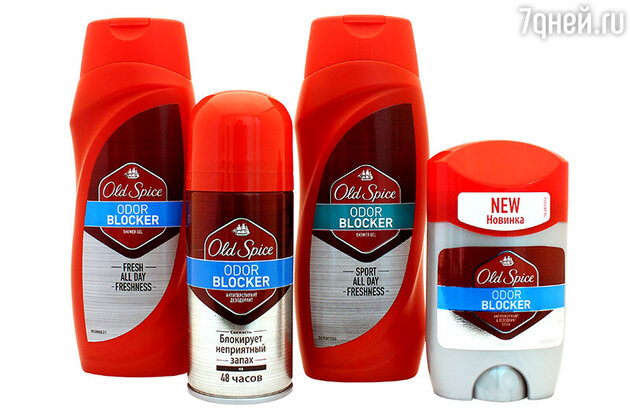 Гель для душа и антиперспирант Odor Blocker от Old Spice