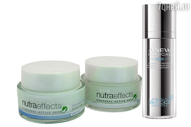 Крем и гель Nutra Effects, сыворотка-корректор морщин Anew Clinical от Avon