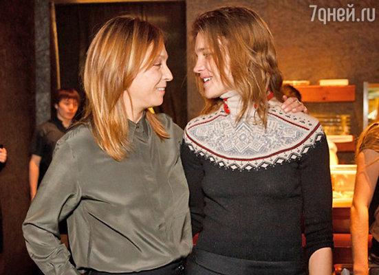 Алена Долецкая и Наталья Водянова
