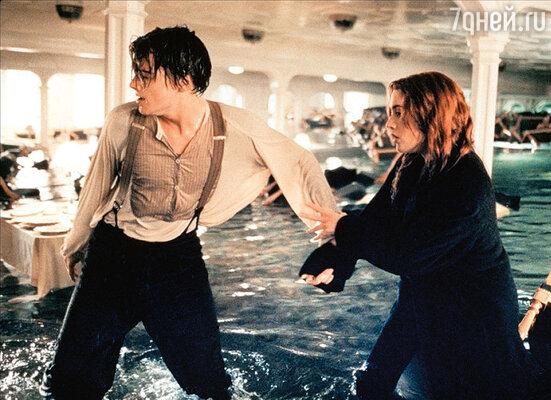 Кейт Уинслет и Леонардо Ди Каприо в«Титанике». 1997г.