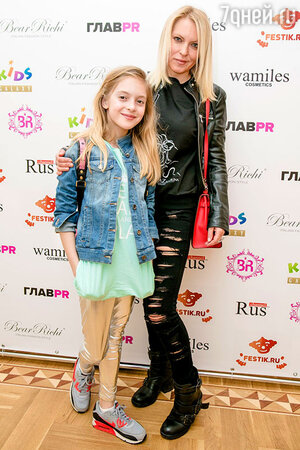 Дарья Михалкова с дочерью Натальей