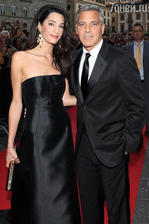 Джордж Клуни и Амаль Аламуддин на благотворительном вечере Fight Night