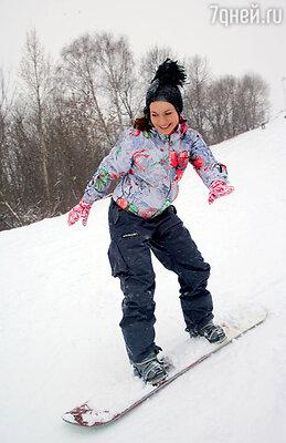 Екатерину Гусеву пристрастил ккатанию на сноуборде сын