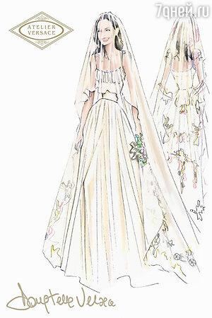 Эскиз платья для Анджелины Джоли