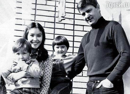 С Двигубским, дочкой Катей и племянником Андреем