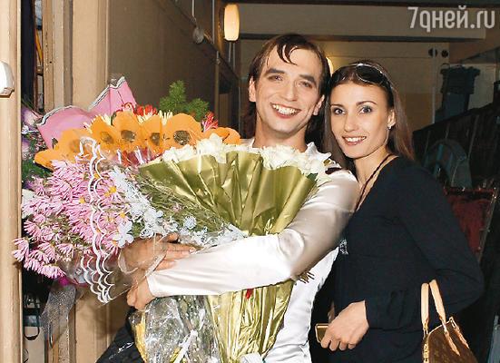Красилов с женой Ириной после премьеры