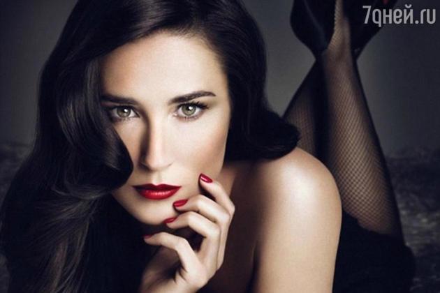 Деми Мур в рекламной кампании Helena Rubenstein