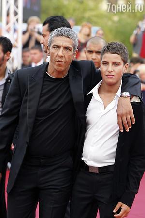 Сами Насери с сыном Жюльяном